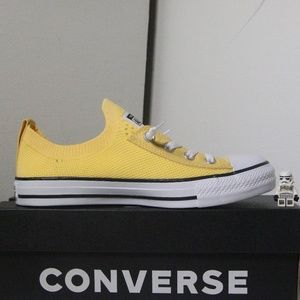 Converse Yellow All Star Shoreline Knit Slip Ons